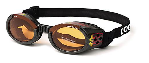 Doggles racing flame hondenbril