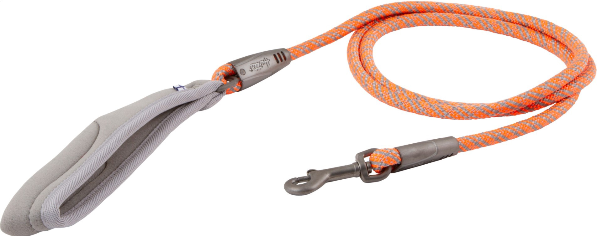 Hurtta Weekend Warrior rope leash neon orange