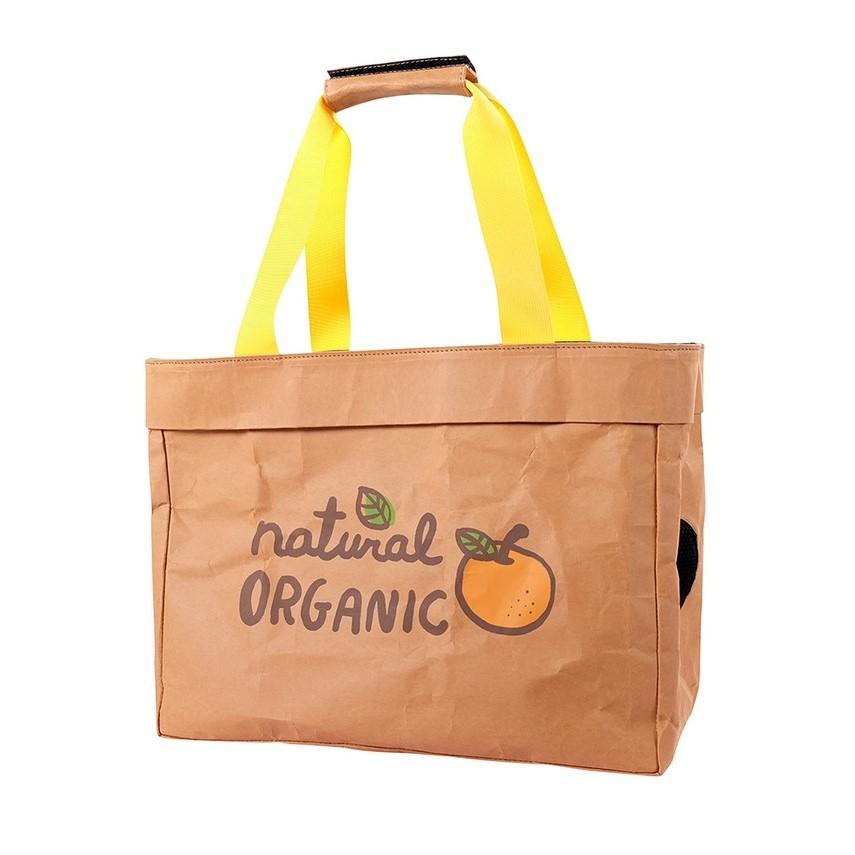 Ibiyaya Wasbare Kraftpapier katten vervoerstas Organic Fruit