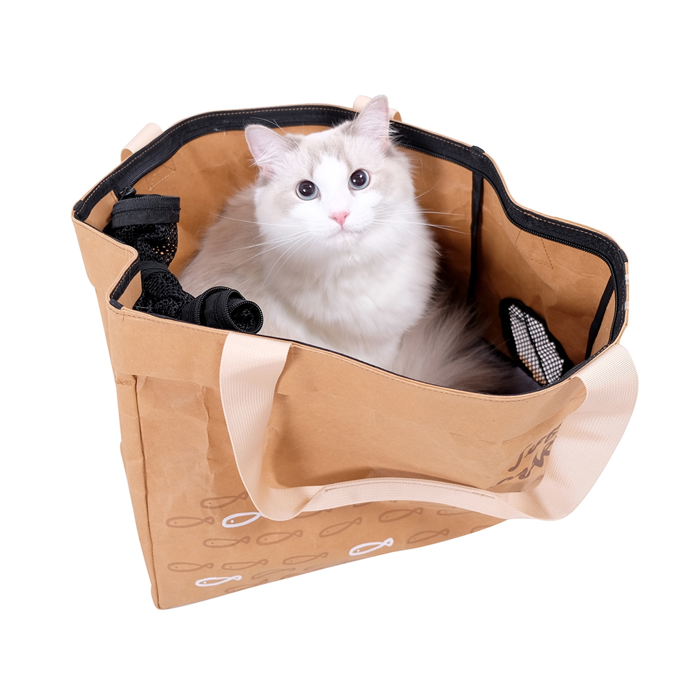 Ibiyaya Washable Kraft Paper Pet Carrier Seafood Market