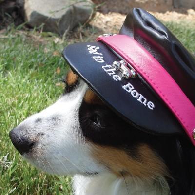 doggles biker hat magenta