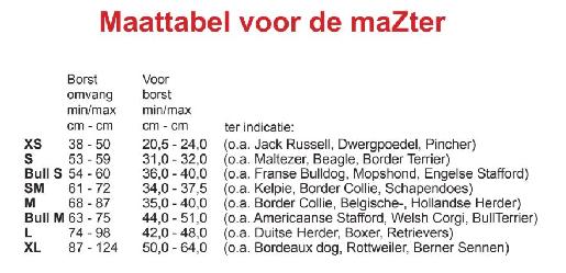 Maattabel MaZter
